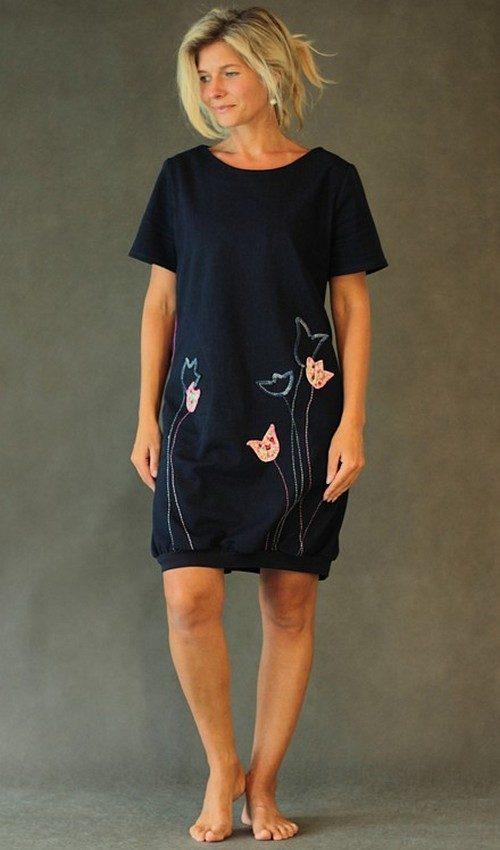 handgemachte Mode – LaJuPe - Kleid dunkelblau