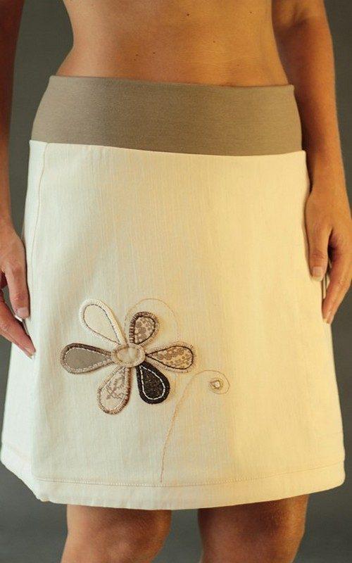 handgemachte Mode – LaJuPe - Damen Rock beige