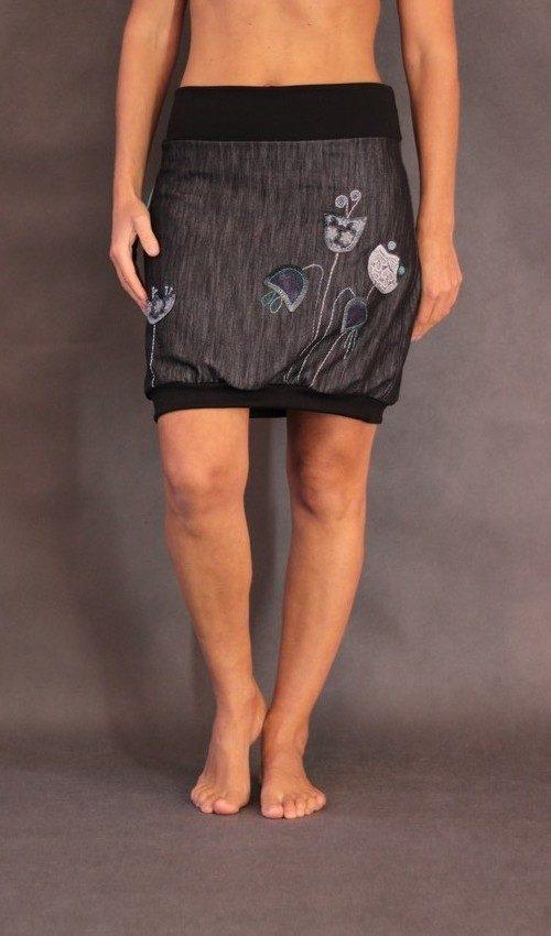 handgemachte Mode – LaJuPe - grauer enger Rock