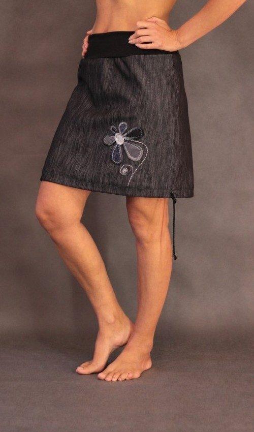 handgemachte Mode – LaJuPe - grauer Rock kurz
