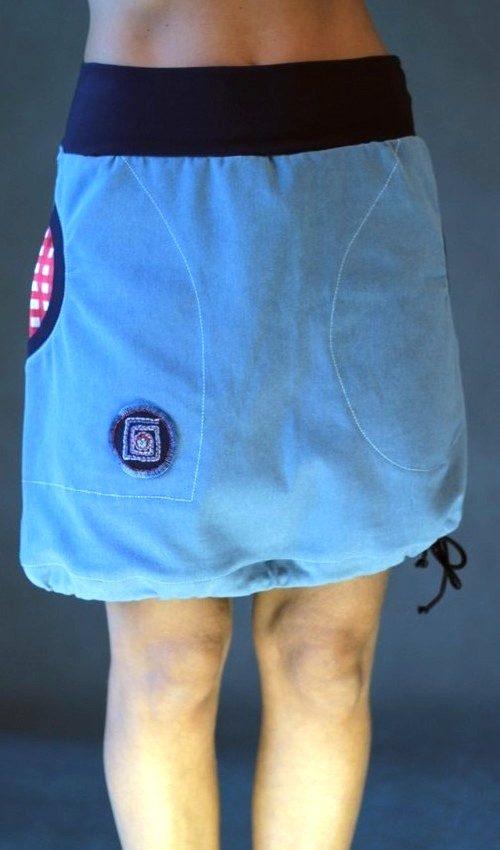 handgemachte Mode – LaJuPe - langer Rock blau