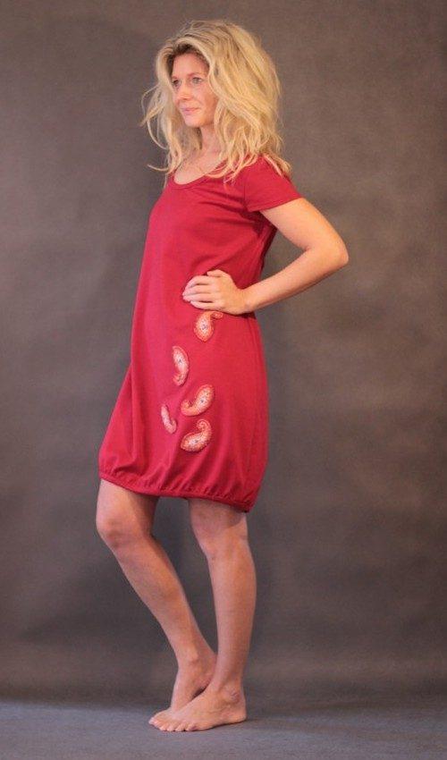 handgemachte Mode – LaJuPe - Abendkleid rot