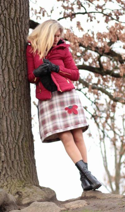 handgemachte Mode – LaJuPe - Winterrock kariert
