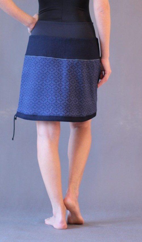 handgemachte Mode – LaJuPe - dunkelblauer langer Rock