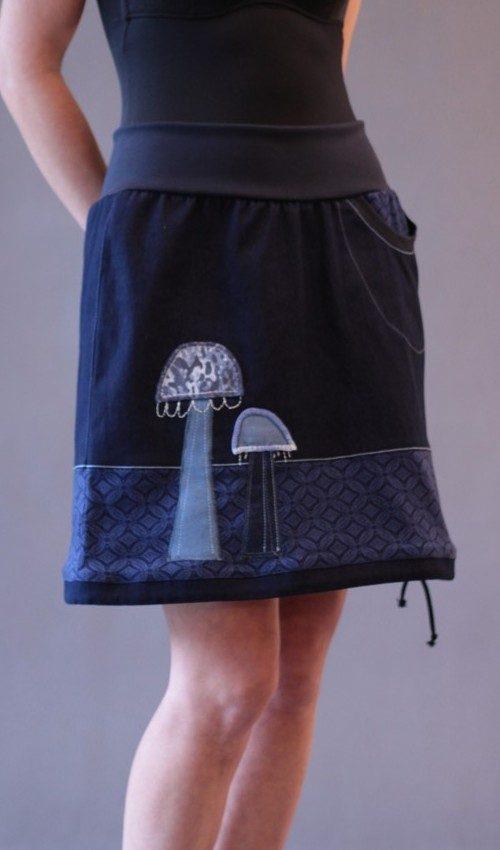 best website 4a6ab 41fb7 langer blauer Rock - Originale handgemachte Mode nach Maß