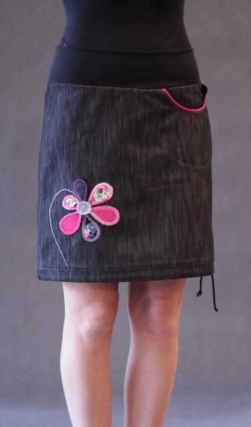 handgemachte Mode – LaJuPe - Jeansrock schwarz