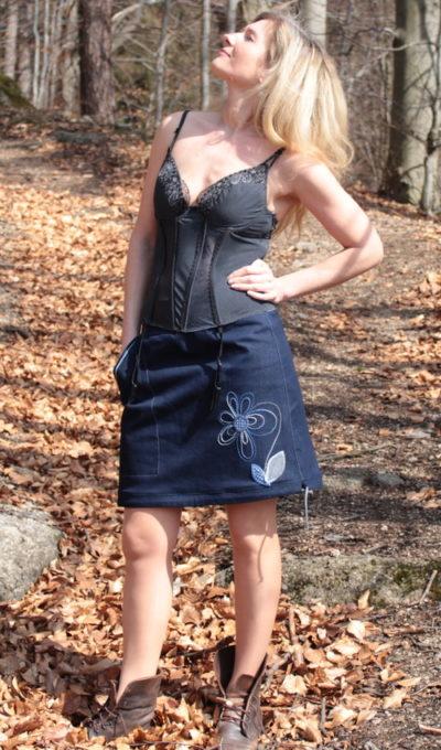 handgemachte Mode – LaJuPe - Damen Jeansrock knielang