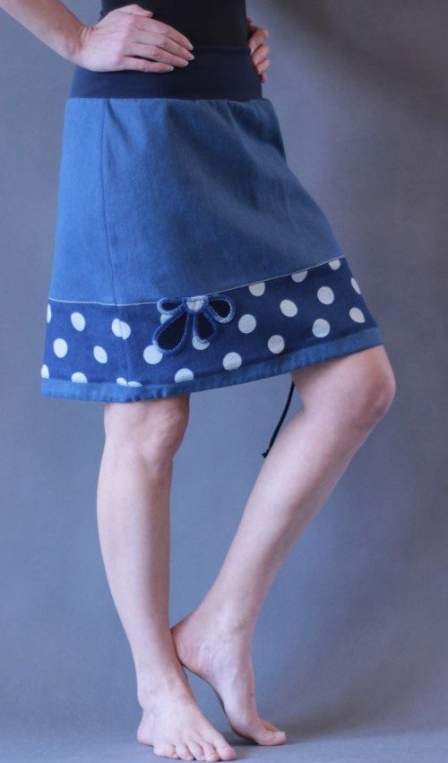 handgemachte Mode – LaJuPe - Baumwollrock lang