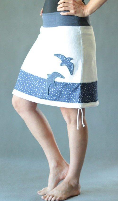 handgemachte Mode – LaJuPe - blau weißer Rock