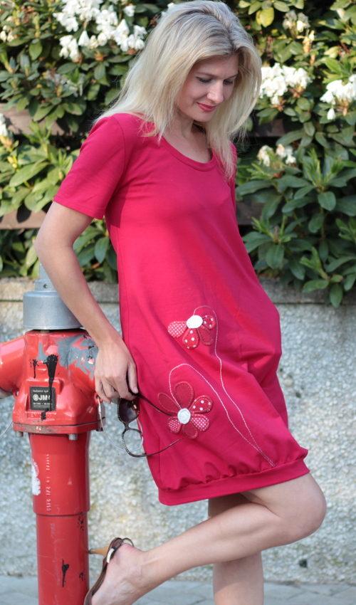 handgemachte Mode – LaJuPe - Kleid rot
