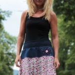 handgemachte Mode – LaJuPe - Blumenrock lang