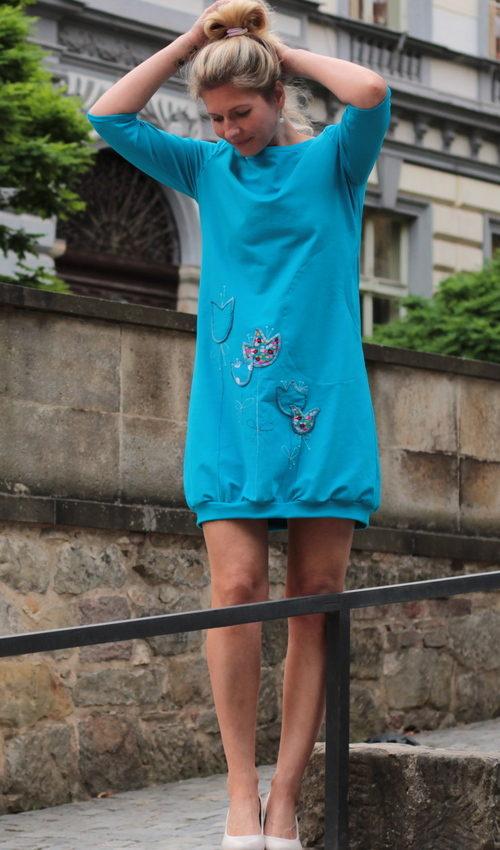 handgemachte Mode – LaJuPe - Kleid türkis