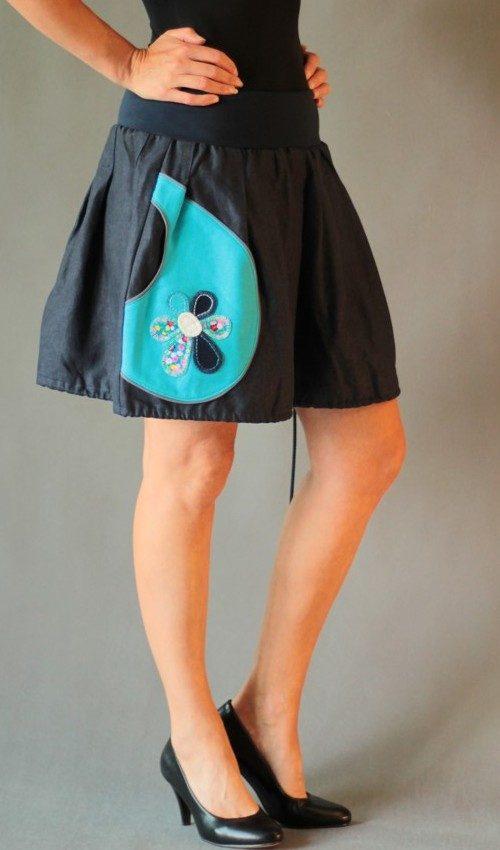 handgemachte Mode – LaJuPe - Leinenrock kurz