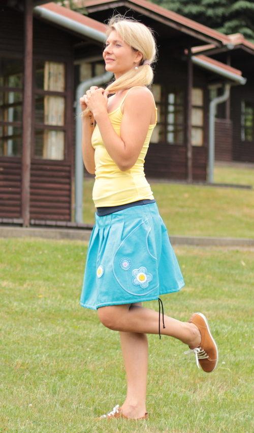 handgemachte Mode – LaJuPe - Leinenrock lang