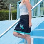 handgemachte Mode – LaJuPe - Rock kurz blau