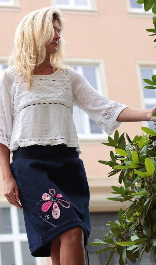 handgemachte Mode – LaJuPe - Jeans Maxirock