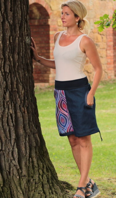 handgemachte Mode – LaJuPe - bunter Jeansrock