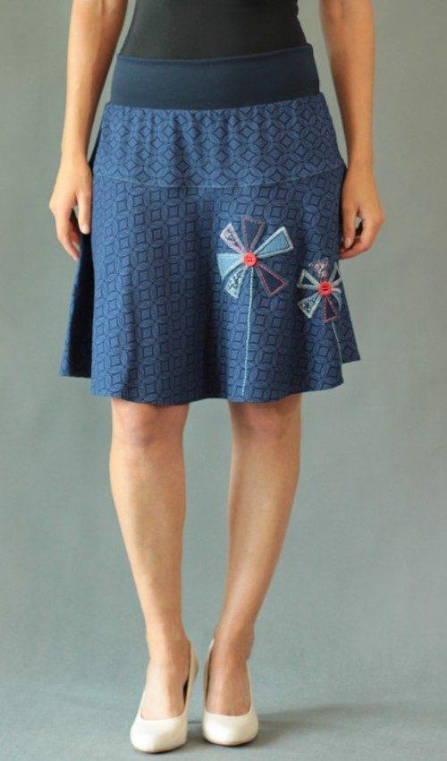handgemachte Mode – LaJuPe - dunkelblauer Rock