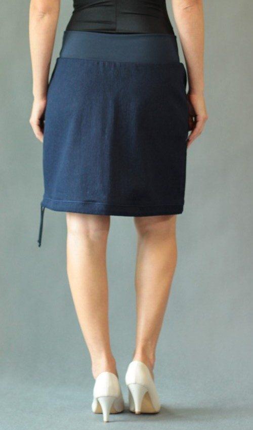 handgemachte Mode – LaJuPe - Jeansrock maxi
