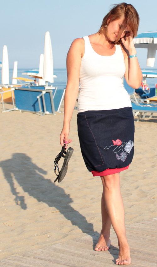 handgemachte Mode – LaJuPe - Midi Jeansrock
