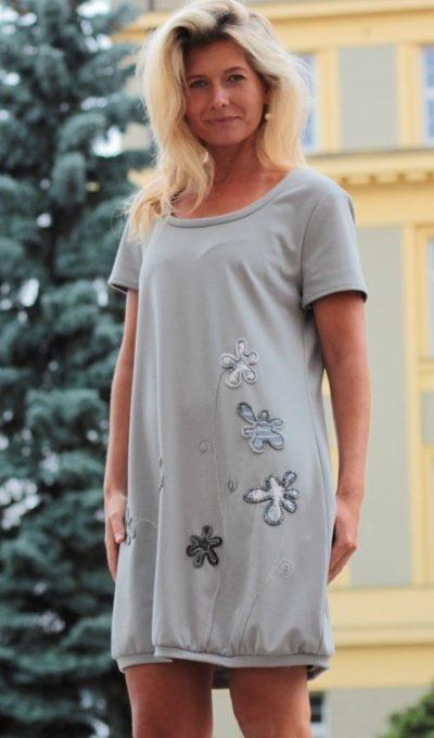 handgemachte Mode – LaJuPe - Kleid grau festlich
