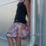 handgemachte Mode – LaJuPe - Rock bunt knielang