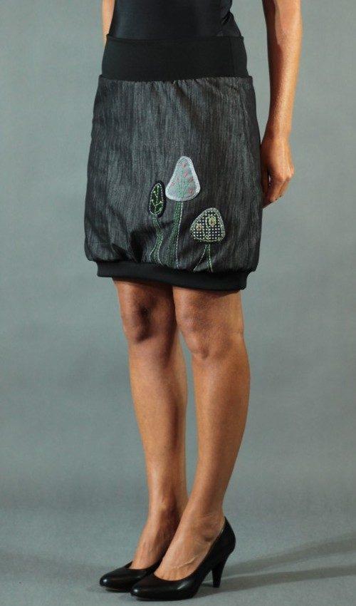 handgemachte Mode – LaJuPe - Baumwollrock schwarz