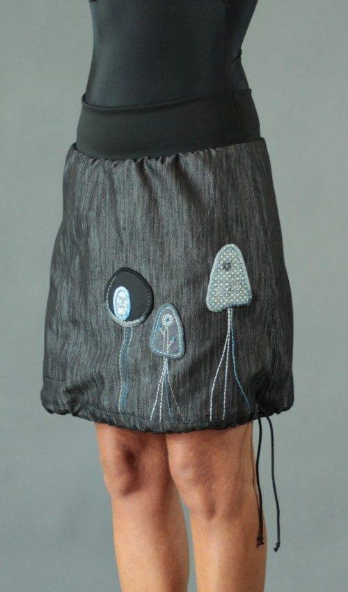 handgemachte Mode – LaJuPe - Jeansrock knielang