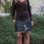 handgemachte Mode – LaJuPe - Jeansrock midi