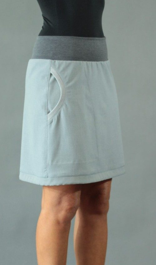 handgemachte Mode – LaJuPe - grauer kurzer Rock