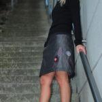 handgemachte Mode – LaJuPe - schwarzer langer Rock
