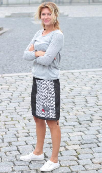 handgemachte Mode – LaJuPe - weißer Rock lang