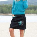 handgemachte Mode – LaJuPe - schwarzer Baumwollrock