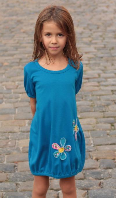 handgemachte Mode – LaJuPe - Mädchen Kleid blau
