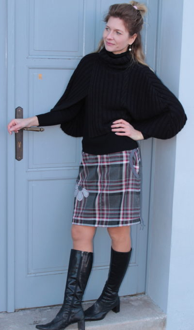 handgemachte Mode – LaJuPe - Damenrock karo