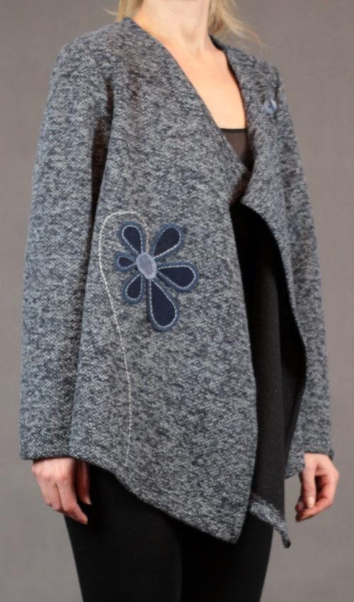handgemachte Mode – LaJuPe - Cardigan Damen blau