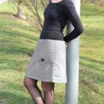 handgemachte Mode - LaJuPe - tweed Rock knielang