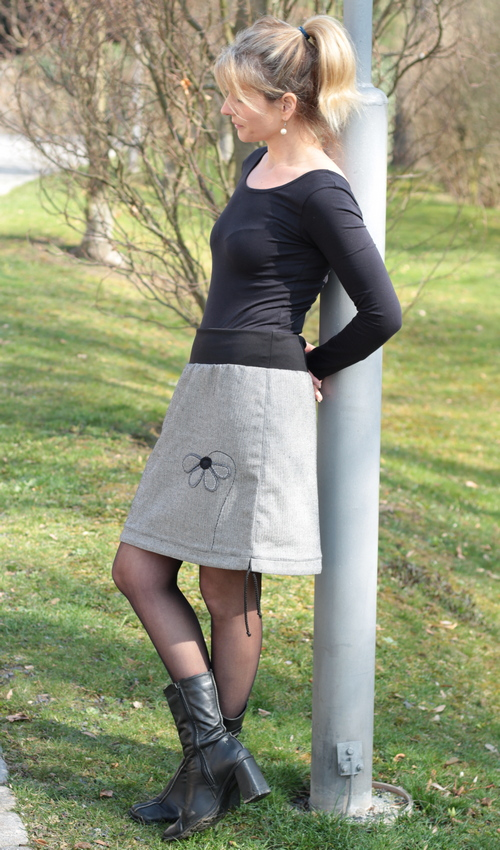 official photos 13216 4502c tweed Rock knielang - Originale handgemachte Mode nach Maß