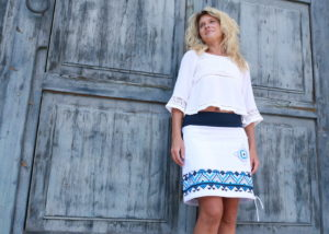 handgemachte Mode – LaJuPe - weißer Rock