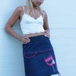 handgemachte Mode – LaJuPe - Rock dunkelblau