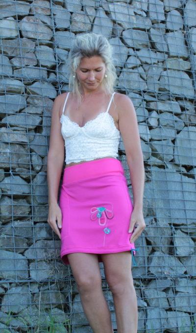 handgemachte Mode – LaJuPe - Rock rosa lang