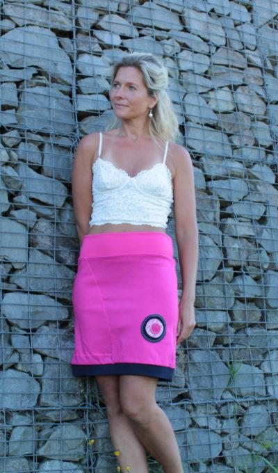 handgemachte Mode – LaJuPe - Rock lang rosa