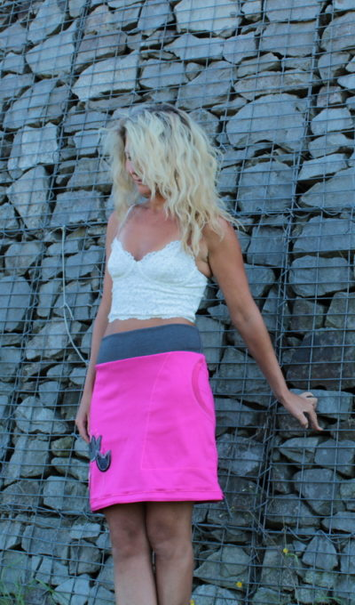 handgemachte Mode – LaJuPe - rosa Rock lang