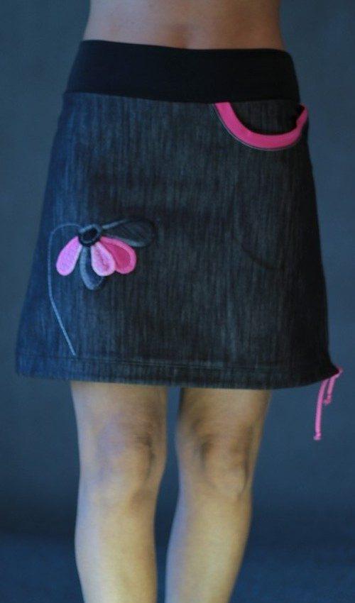 handgemachte Mode – LaJuPe - schwarzer Rock A Linie