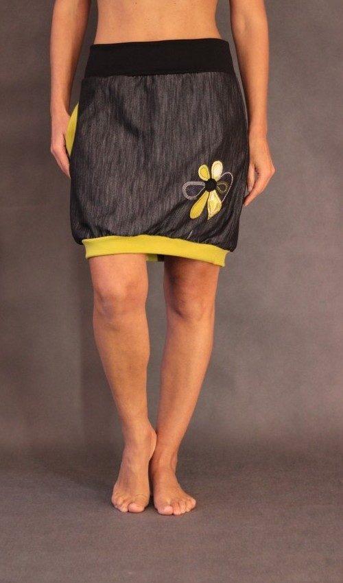 handgemachte Mode – LaJuPe - schwarzer Midirock