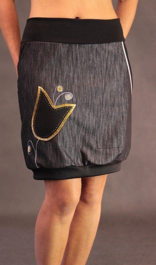 handgemachte Mode – LaJuPe - Rock lang schwarz