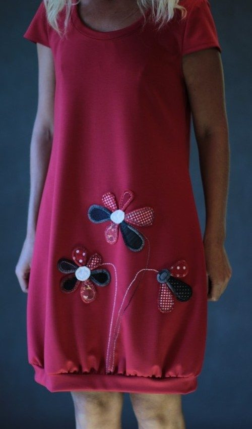 handgemachte Mode – LaJuPe - Damen Kleid rot