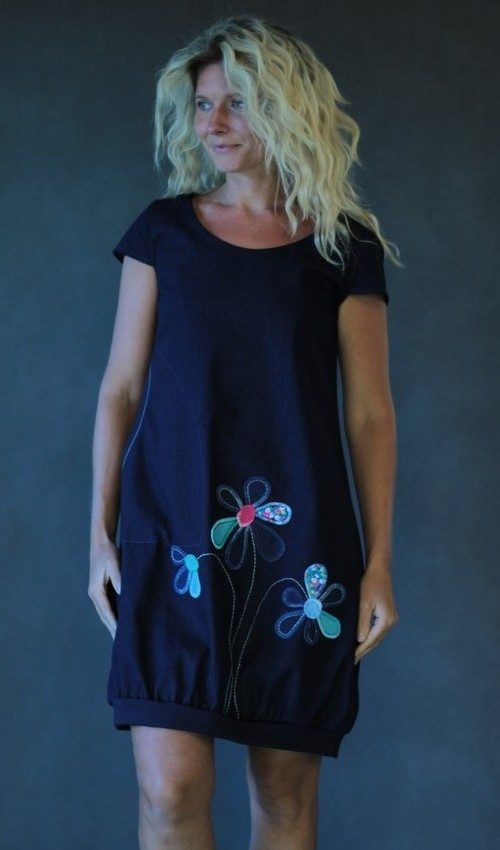 handgemachte Mode – LaJuPe - blaues Kleid