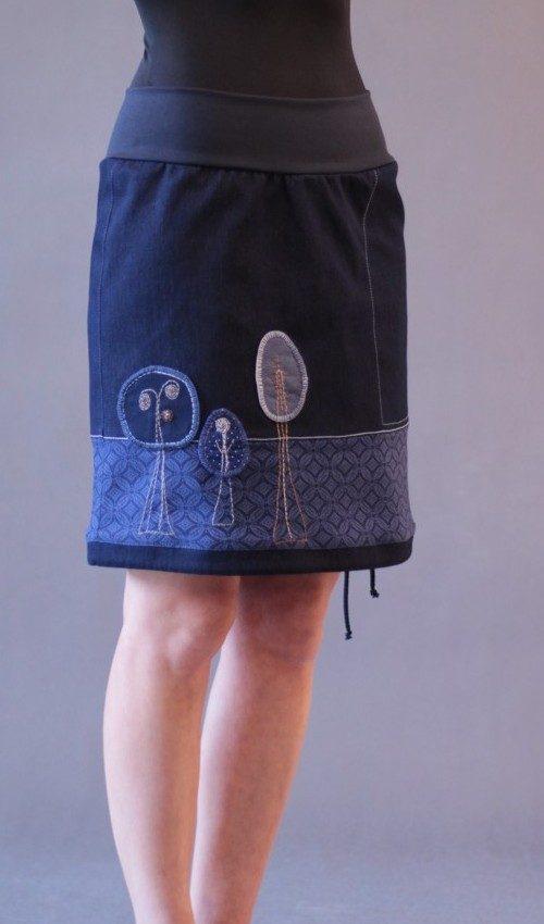 handgemachte Mode – LaJuPe - Damenrock blau