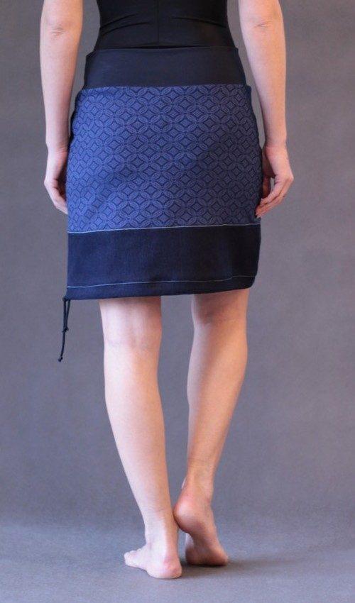 handgemachte Mode – LaJuPe - Rock lang blau